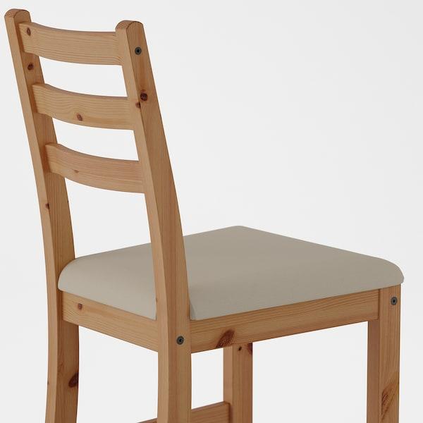 LERHAMN Chair, light antique stain/Vittaryd beige