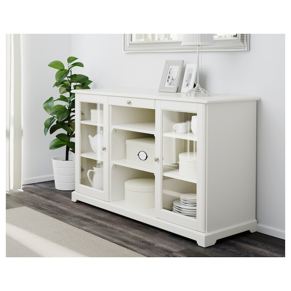 LIATORP Sideboard, white, 145x88 cm