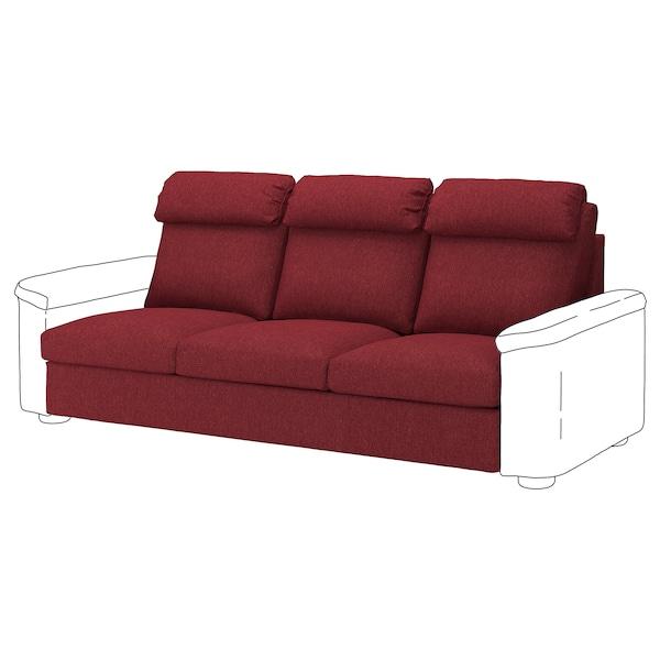 LIDHULT 3-seat section Lejde red-brown 95 cm 76 cm 211 cm 98 cm 53 cm 45 cm
