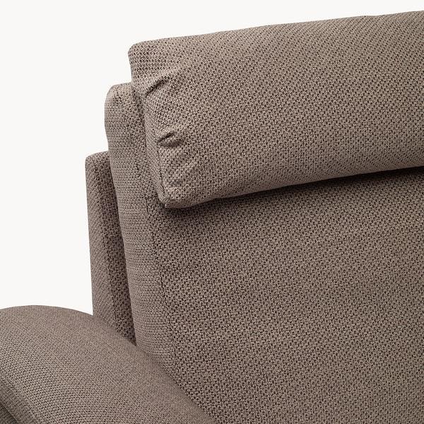 LIDHULT armchair Lejde beige/brown 102 cm 76 cm 119 cm 98 cm 7 cm 71 cm 53 cm 45 cm