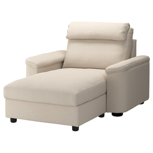 LIDHULT chaise longue Gassebol light beige 102 cm 74 cm 138 cm 160 cm 7 cm 90 cm 128 cm 42 cm