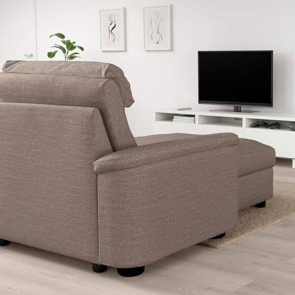 LIDHULT chaise longue Lejde beige/brown 102 cm 74 cm 138 cm 160 cm 7 cm 90 cm 128 cm 42 cm