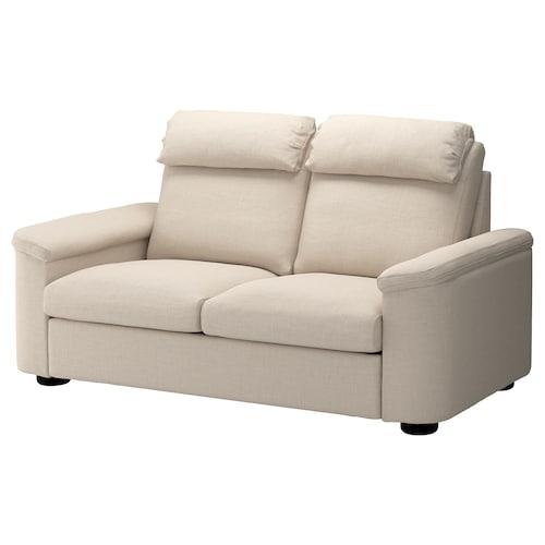 LIDHULT 2-seat sofa-bed Gassebol light beige 102 cm 76 cm 208 cm 98 cm 7 cm 53 cm 45 cm 140 cm 200 cm