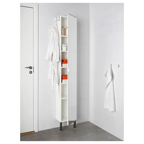 High Cabinet With Mirror Door White