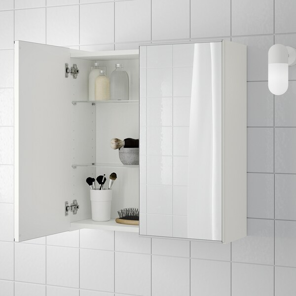 Mirror Cabinet With 2 Doors White
