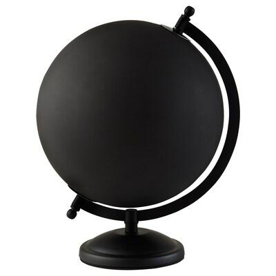 LINDRANDE Decoration, earth globe black, 28 cm