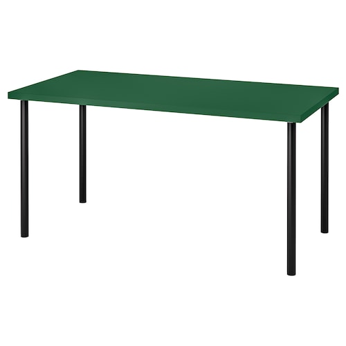 LINNMON / ADILS table green/black 150 cm 75 cm 74 cm 50 kg