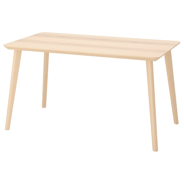 LISABO table ash veneer 140 cm 78 cm 75 cm