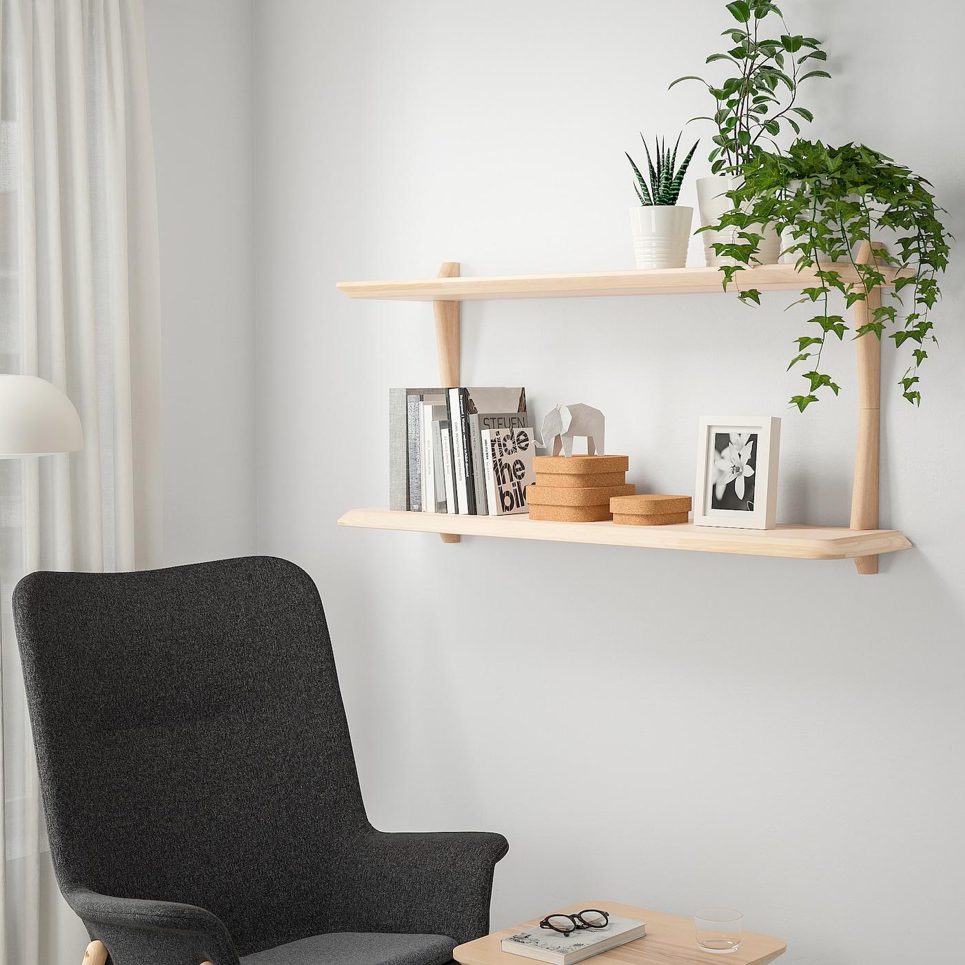 Lisabo Wall Shelf Combination Ash Veneer Ikea