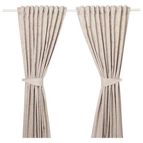 IKEA LISABRITT Curtains with tie-backs, 1 pair