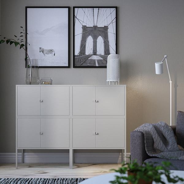 LIXHULT Cabinet combination, grey, 120x35x92 cm