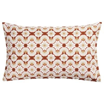 LJUVARE Cushion cover, floral patterned orange/beige, 40x65 cm