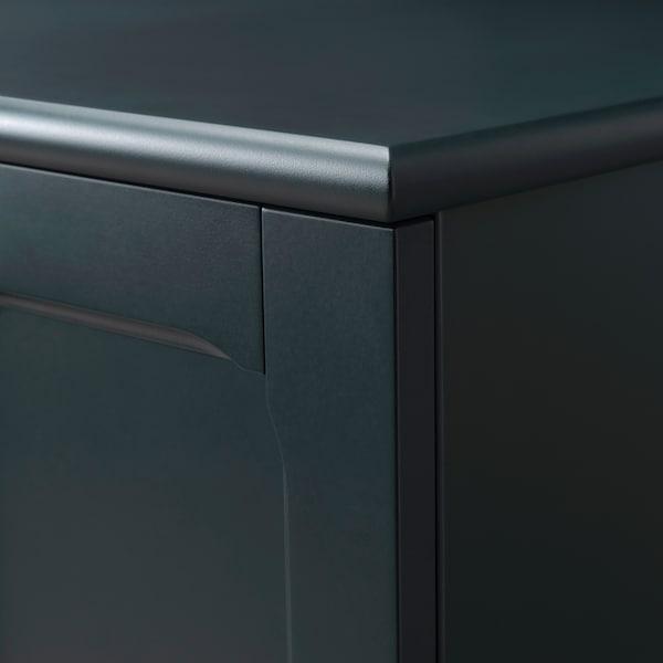 LOMMARP Cabinet, dark blue-green, 102x101 cm