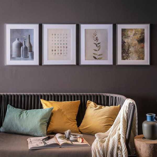 LOMVIKEN Frame, aluminium, 40x50 cm