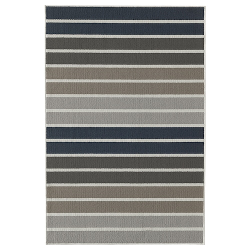 LUMSÅS rug, low pile grey/multicolour 180 cm 120 cm 8 mm 2.16 m² 980 g/m² 360 g/m²