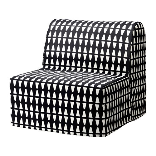 Lycksele L 214 V 197 S Chair Bed Ebbarp Black White Ikea