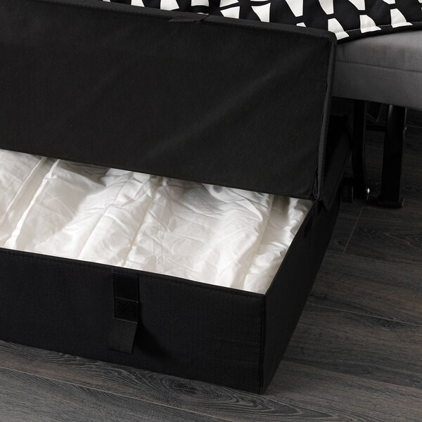 LYCKSELE MURBO chair-bed Ebbarp black/white 80 cm 100 cm 87 cm 60 cm 39 cm 80 cm 188 cm 188 cm 80 cm 10 cm