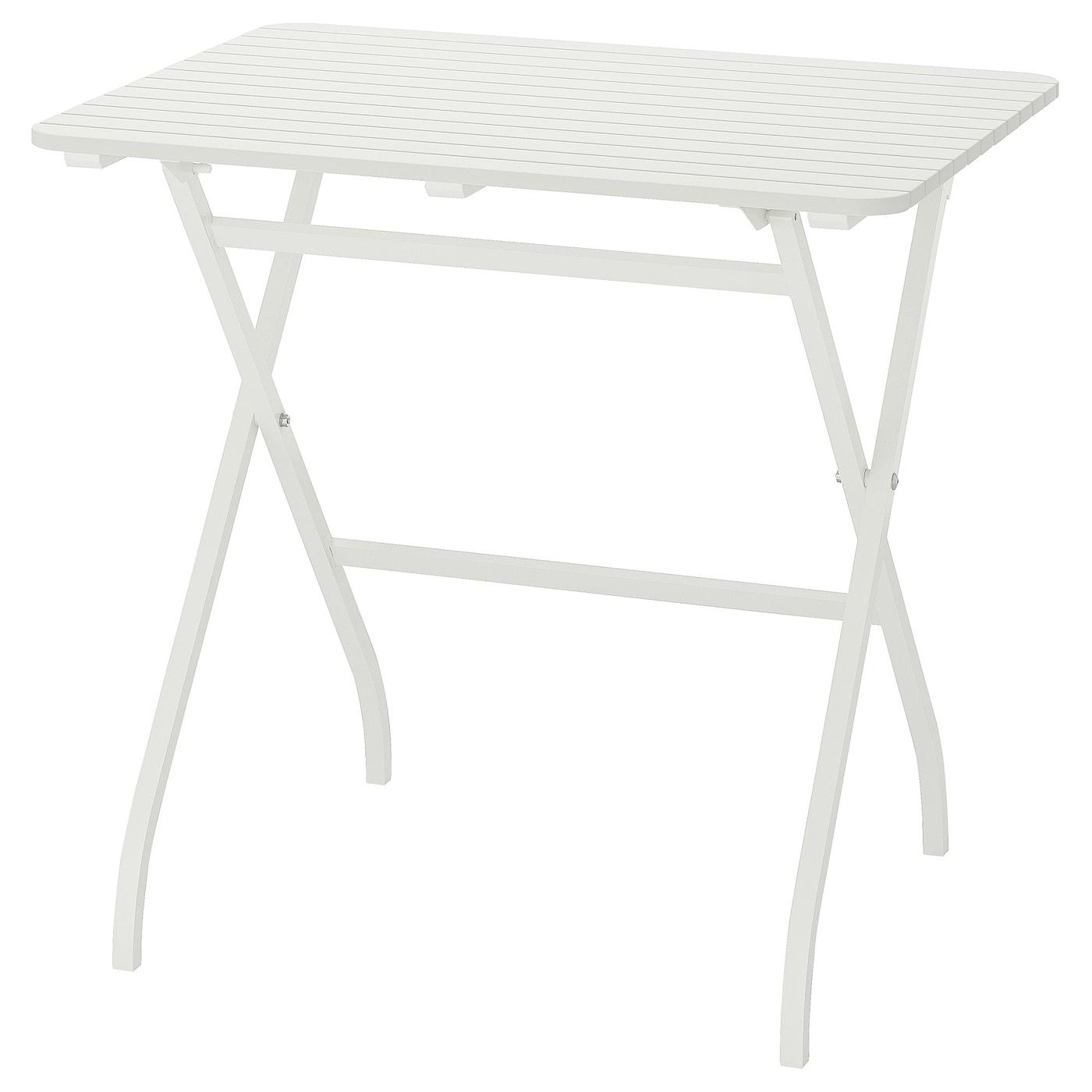 Malaro Table Outdoor Foldable White 80x62 Cm Ikea