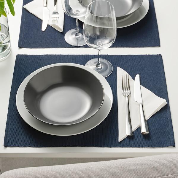 MÄRIT Place mat, dark blue, 35x45 cm