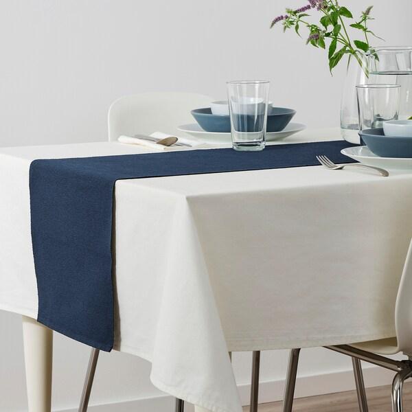 MÄRIT Table-runner, dark blue, 35x130 cm