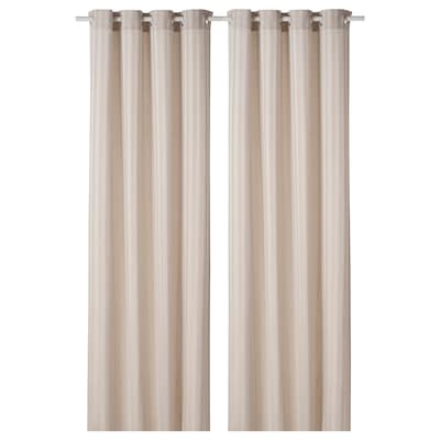 MAJRID Curtains, 1 pair, beige, 145x250 cm