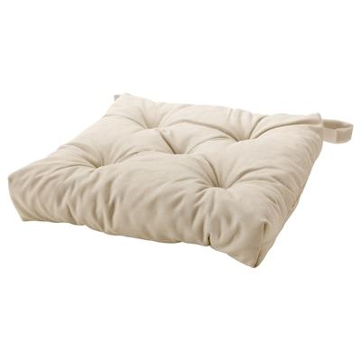 MALINDA Chair cushion, light beige, 40/35x38x7 cm