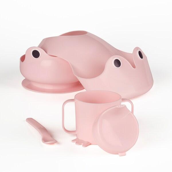MATA 4-piece eating set, pink