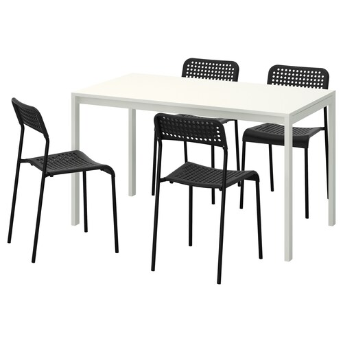IKEA MELLTORP / ADDE Table and 4 chairs