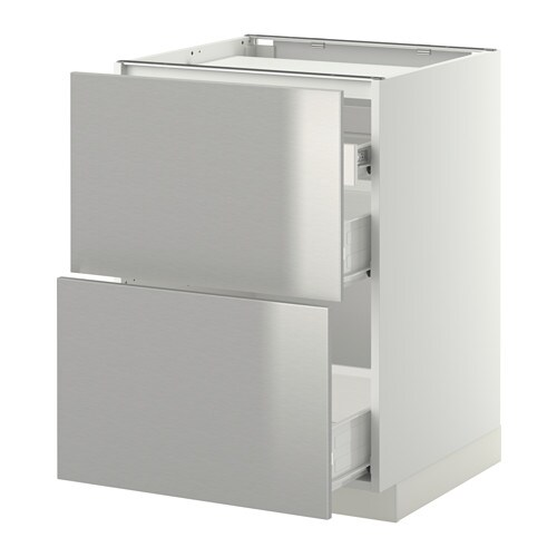 Off White Kitchen Cabinets With Stainless Appliances: METOD Base Cab F Hob/2 Fronts/3 Drawers