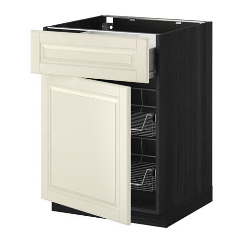 Metod base cab w wire basket drawer door wood effect for Ikea basket drawers