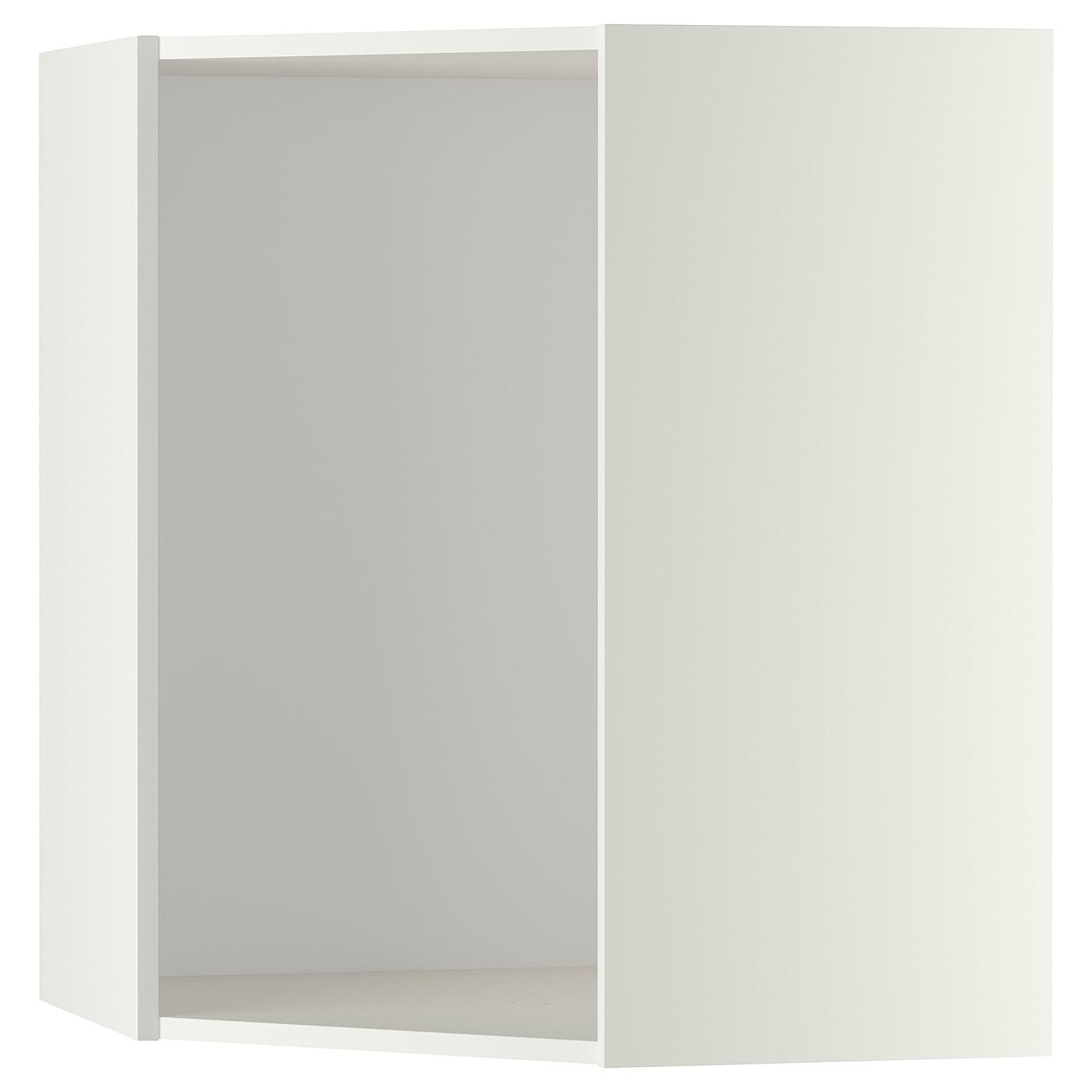 Metod Corner Wall Cabinet Frame White Ikea