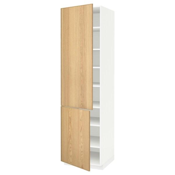 Shelves 2 Doors White Ekestad Oak