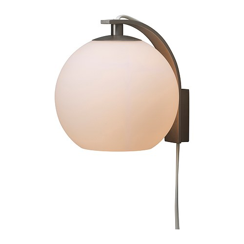 MINUT Wall lamp IKEA Flexible; can be mounted with the light turned downwards or upwards.  Gives a soft mood light.