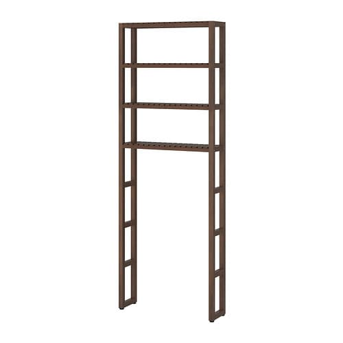 Molger open storage dark brown ikea - Ikea meuble toilette ...
