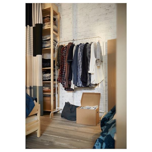 MULIG Clothes rack, white, 99x152 cm