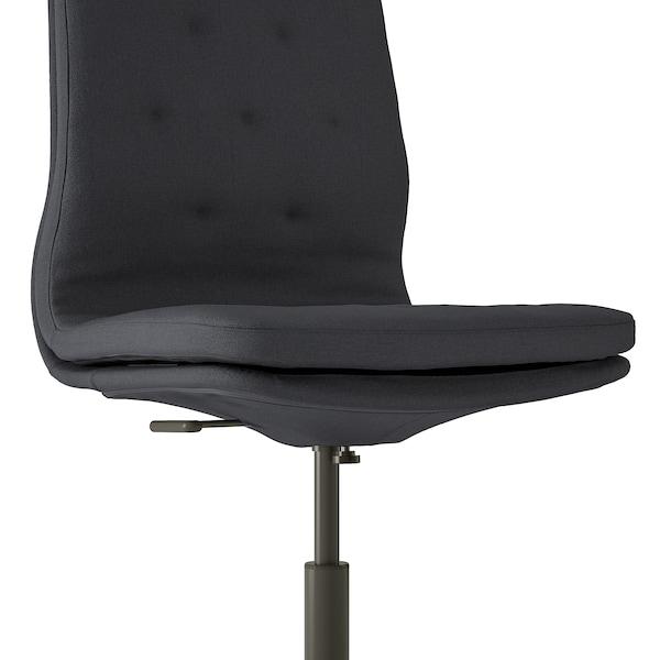 MULLFJÄLLET Conference chair with castors, Naggen dark grey