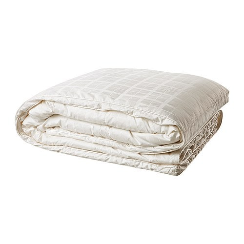 MYSA ROSENGLIM Quilt, warmth rate 5 IKEA A thick, voluminous yet lightweight down quilt for you who often feel cold and prefer a warm quilt.