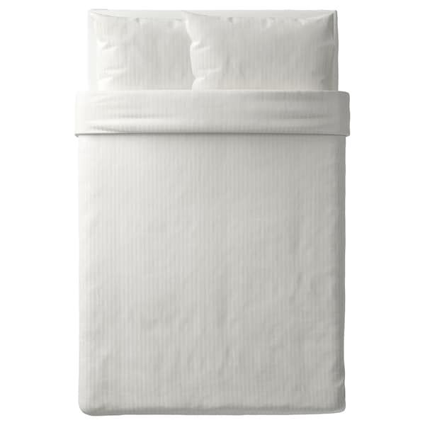 NATTJASMIN Quilt cover and 2 pillowcases, white, 200x200/50x80 cm