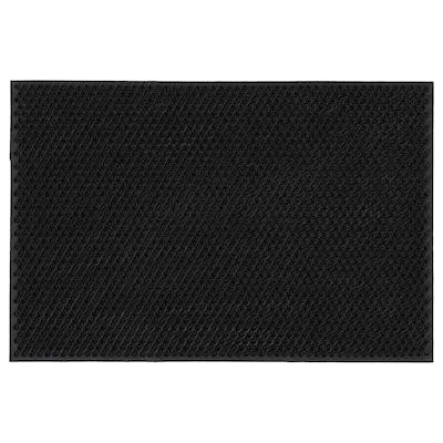 NELLEMOSE Door mat, in/outdoor, dark grey, 40x60 cm