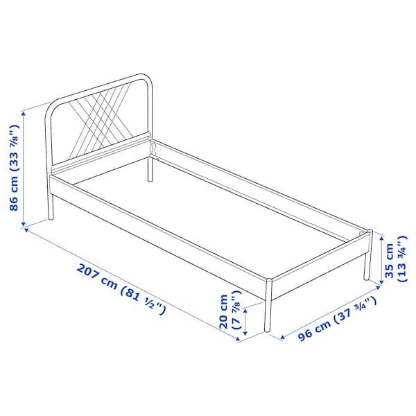 Nesttun Bed Frame White Luröy Ikea