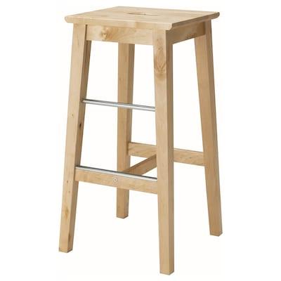 NILSOLLE Bar stool, birch, 74 cm