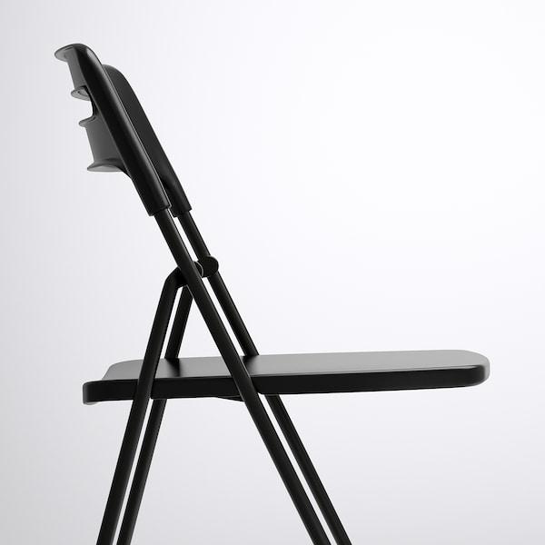 NISSE Folding chair, black