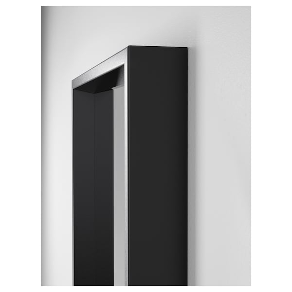 NISSEDAL Mirror, black, 40x150 cm