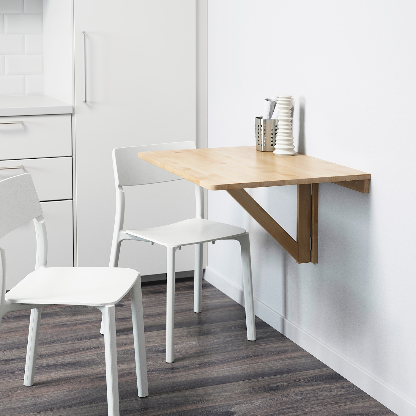 - NORBO Wall-mounted Drop-leaf Table - Birch - IKEA