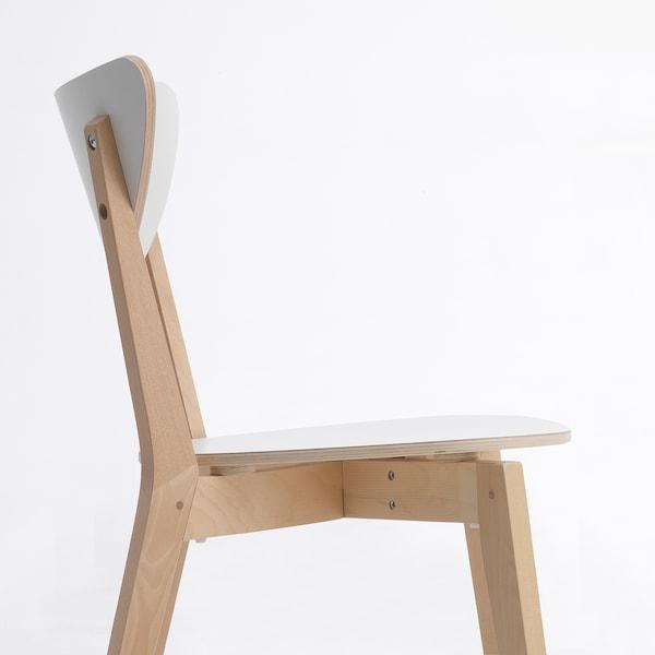 NORDMYRA Chair, white/birch