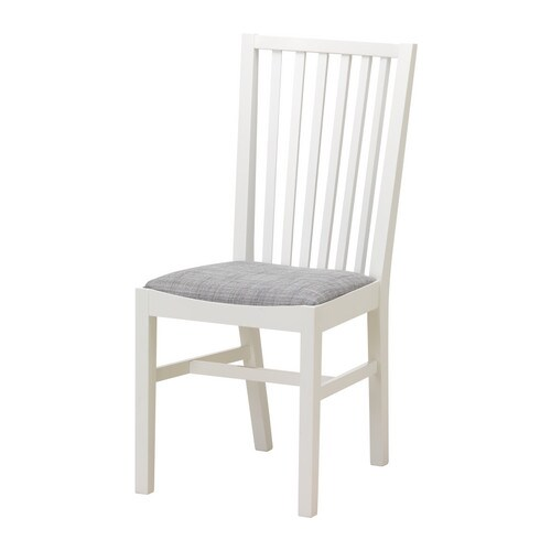 NORRNÄS Chair IKEA Solid beech; a hardwearing natural material with a hard surface.  High and shaped back for enhanced seating comfort.