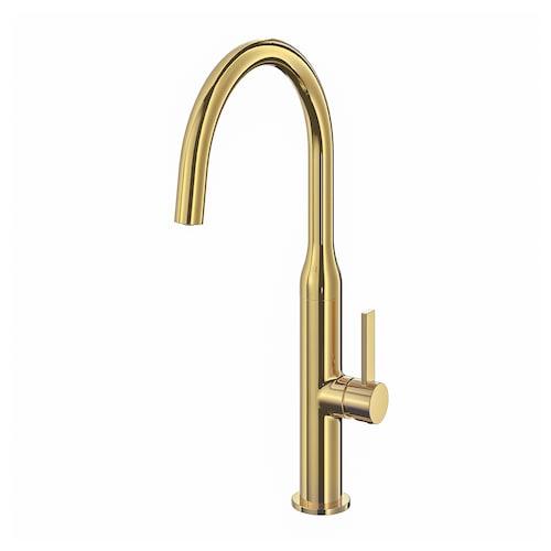 NYVATTNET kitchen mixer tap polished brass-colour 40 cm 20 cm