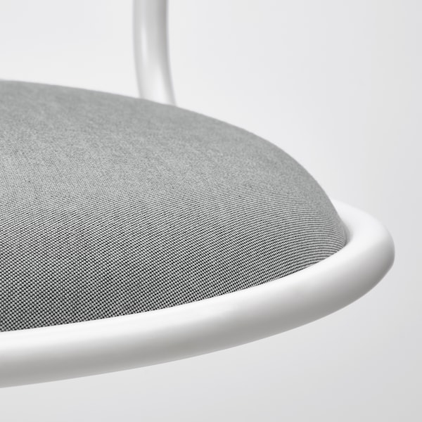 ÖRFJÄLL Swivel chair, white/Vissle light grey