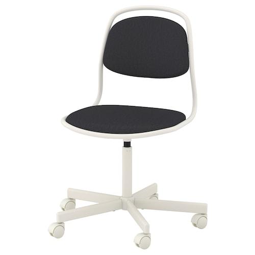 ÖRFJÄLL swivel chair white/Vissle dark grey 110 kg 68 cm 68 cm 94 cm 49 cm 43 cm 46 cm 58 cm