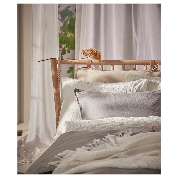 OFELIA VASS Duvet cover and 2 pillowcases, white, 200x200/50x80 cm
